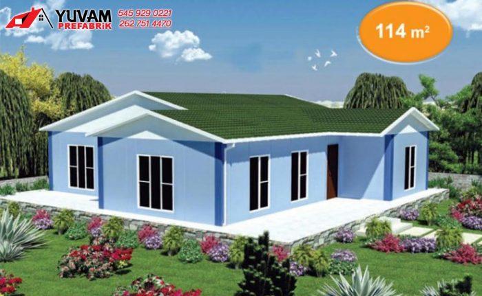 114m2 3+1 tek katlı prefabrik ev