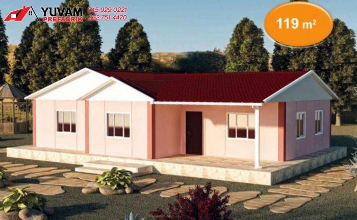 119m2 3+1 tek katlı prefabrik ev