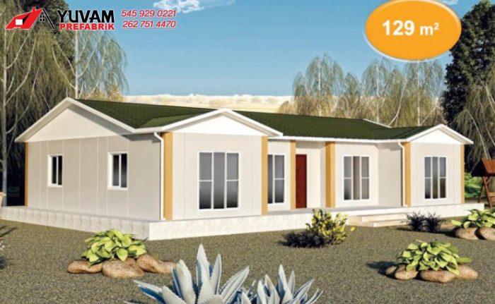 129m2 4+1 tek katlı prefabrik ev
