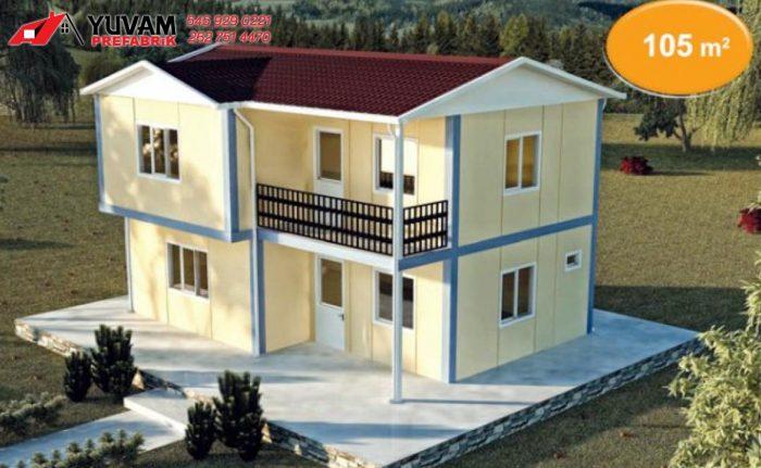 105m2 2+1 iki katlı prefabrik ev