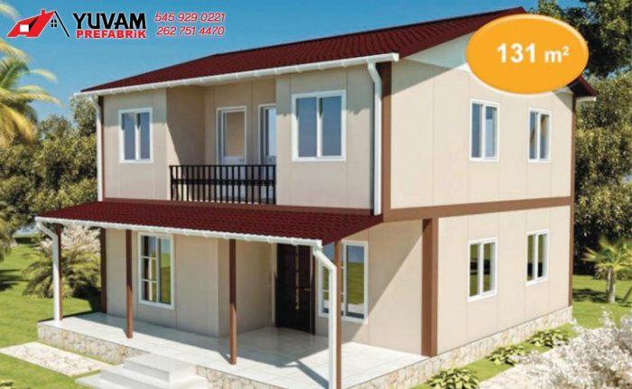 131m2 3+1 iki katlı prefabrik ev
