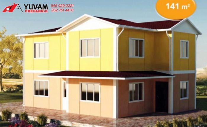 141m2 4+1 iki katlı prefabrik ev